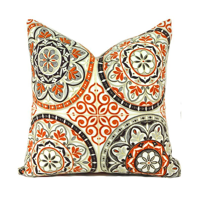 Waverly Outdoor Color Wheel Poppy Throw Pillow Color Wheels Cool Coral Colored Decorative Pillows
