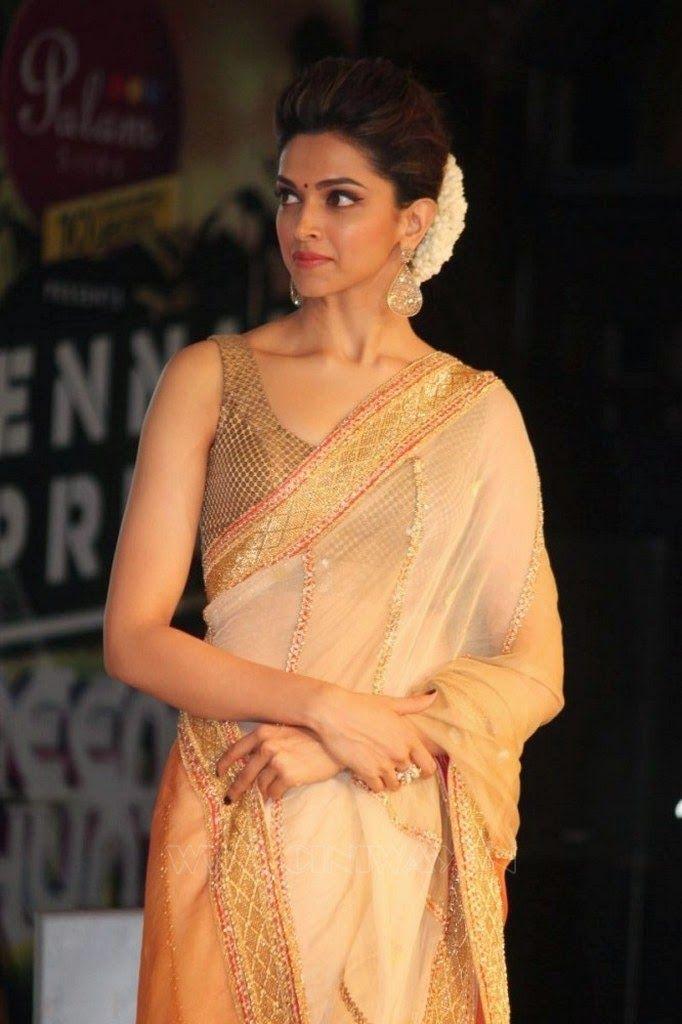 Deepika Padukone Sleeveless Blouse   Deepika padukone ...