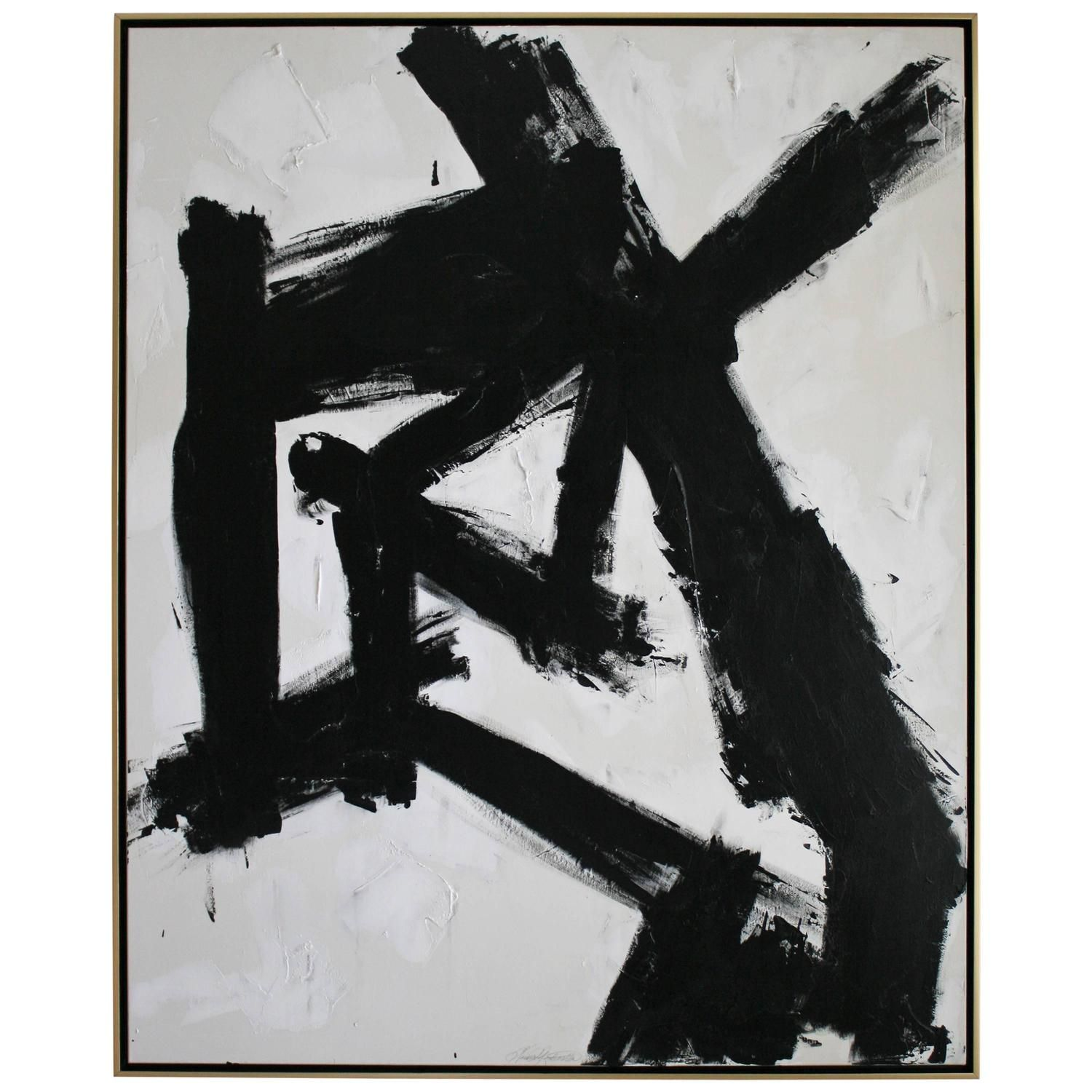 View this item and discover similar paintings for sale at entitled por una cabeza original acrylic on stretched canvas abstract black and white painting