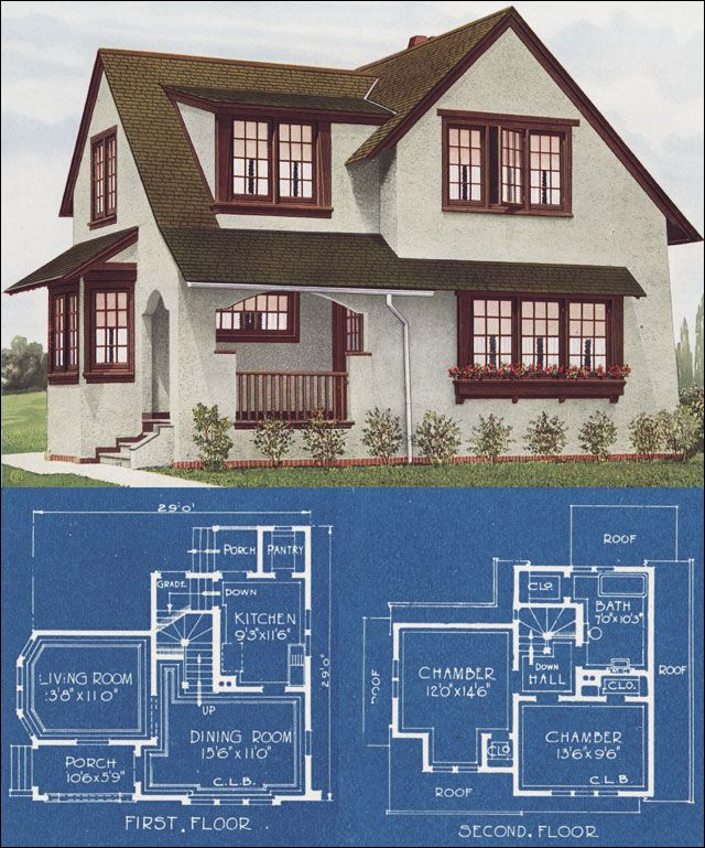 Modern English House in Stucco - 1921 - C. L. Bowes - American Homes Beautiful
