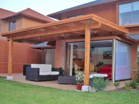 Cobertizo patio trasero laterales buscar con google for Casas con cobertizos