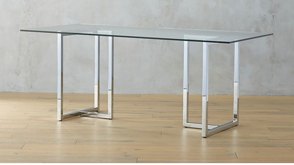 Silverado Chrome 72 Rectangular Dining Table Rectangle Dining