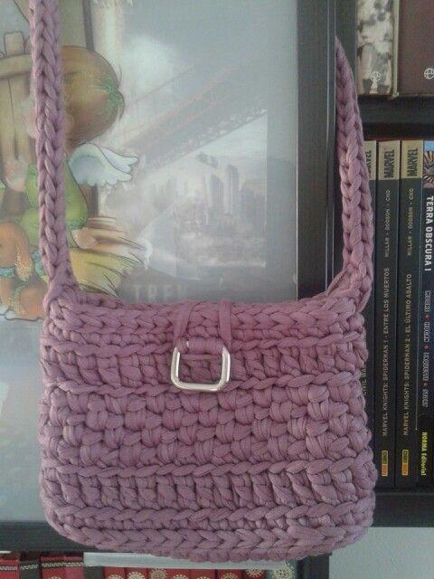 Bolso trapillo rosae crochet by milunar zpagetti for Bolso crochet trapillo