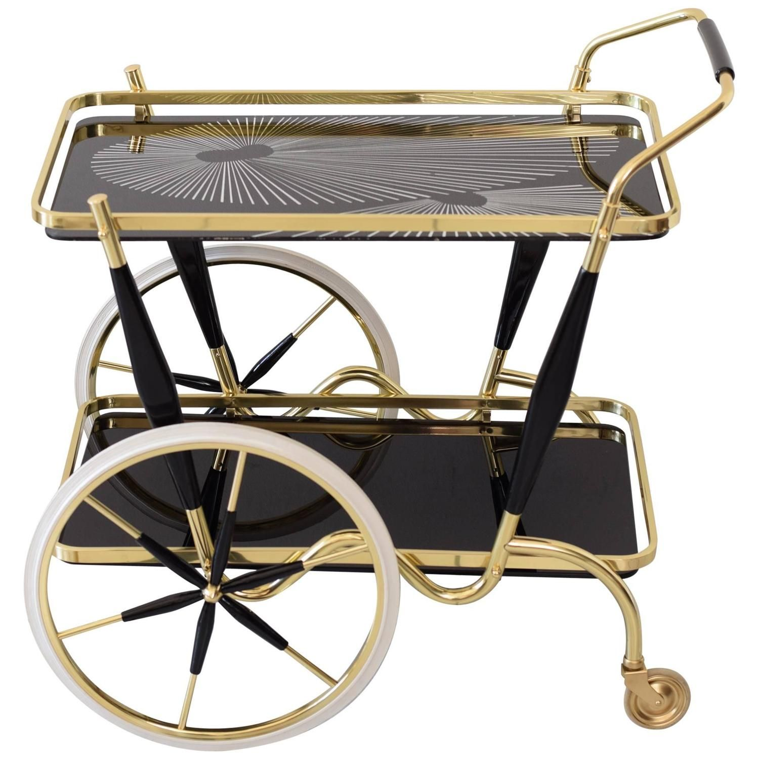 Mid 20Th Italian Trolley Bar Cart, Italy, 1950 - From A