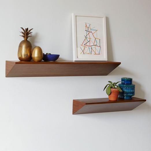 Wedge Shelf - Acorn | West Elm smaller - weight capacity = 50 lbs larger =