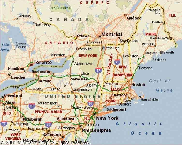 map north east coast usa - Google Search | Travel ...