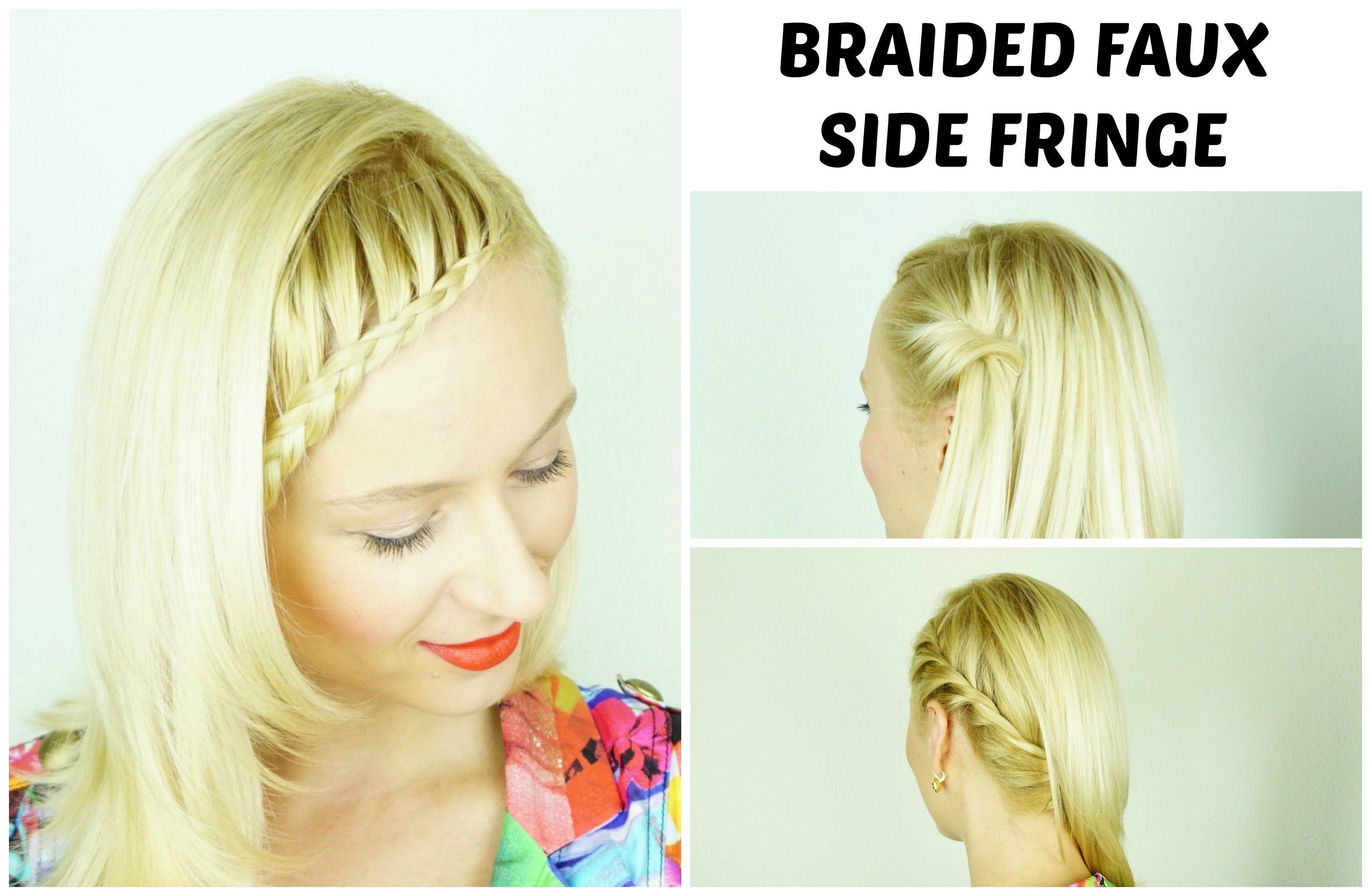 Braided Faux Side Fringe - Tutorial