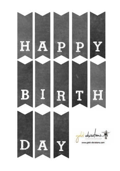 Happy birthday girlande zum ausdrucken kostenlos
