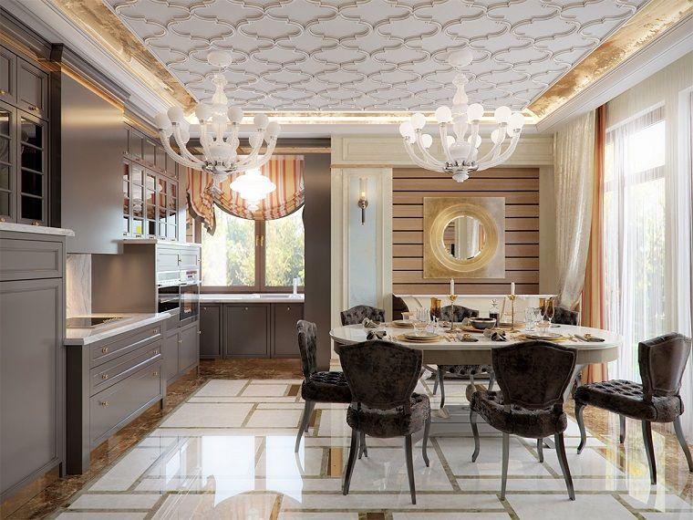 Soggiorni moderni immagini, cucina con tavolo da pranzo ...