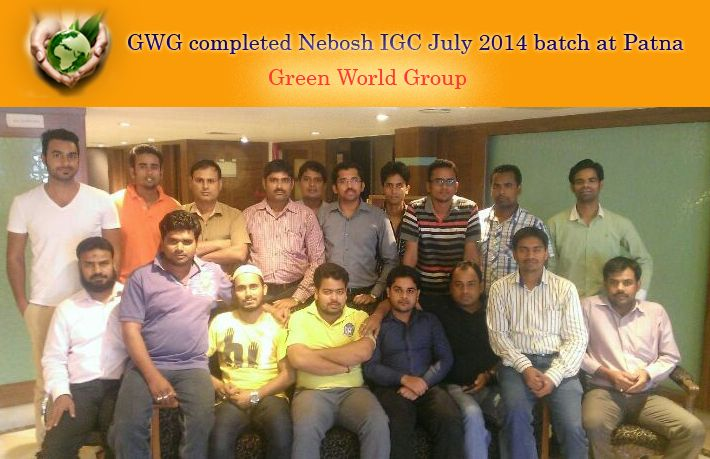 Green World Group Successfully Completed Nebosh Igc July 2014 Batch