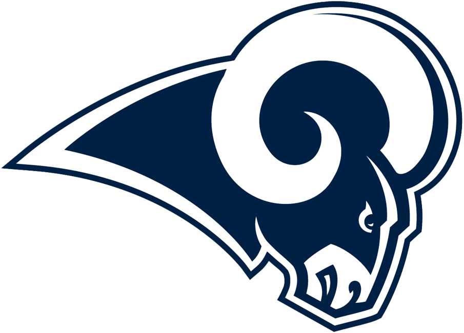 los angeles rams primary logo 2017 ram head in blue and white