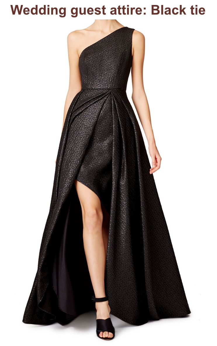 Wedding Guest Attire Black Tie Tuxedo Or Evening Jacket And Matching Trousers Are Standard For Men At A Event The Women There Two