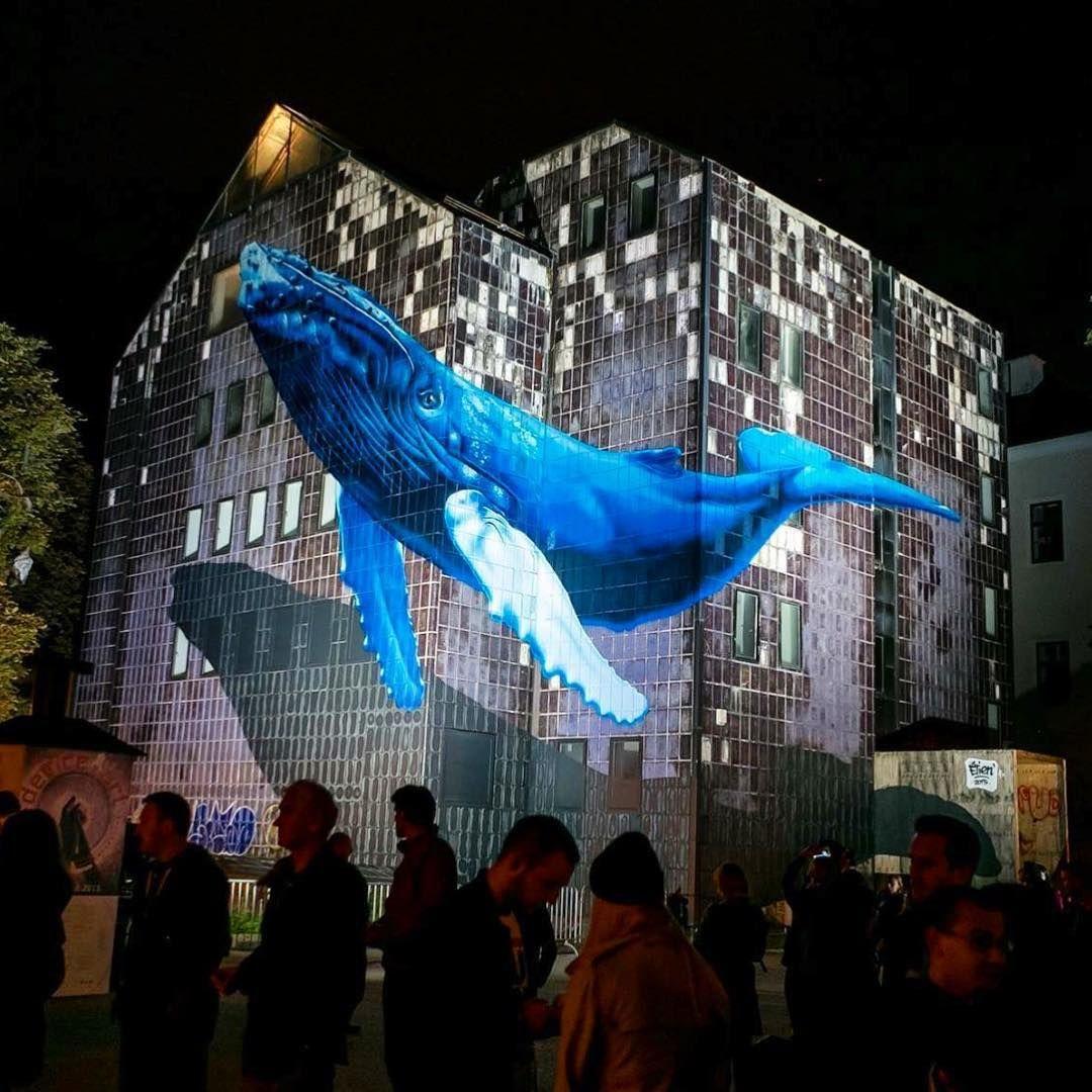 Fatcap On Instagram Flying Whale Etien Fr In Zagreb Graffiti Streetart Illusion Muralart Whale Hunchbackwhale Painteverywhere