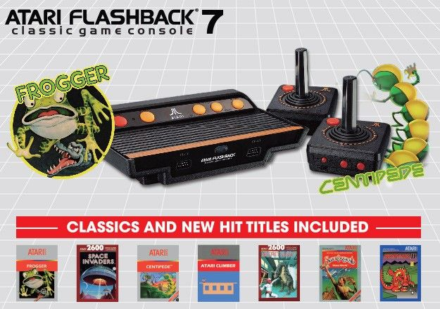 Atari Flashback 7 Plug And Play Retro Games Console 2 Player With