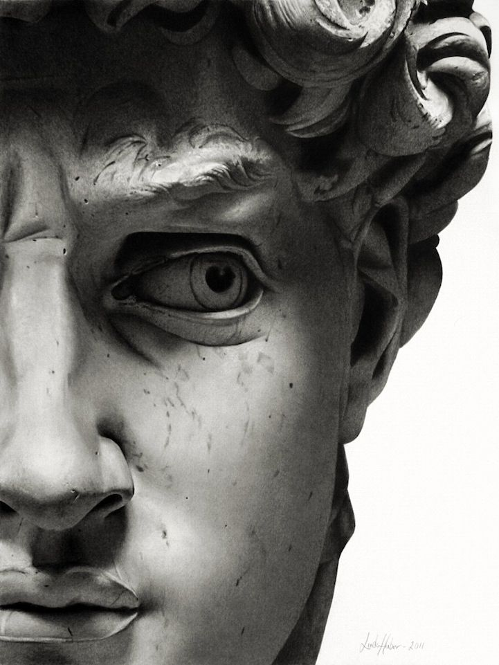 Magazine – The Face of David, in Pencil