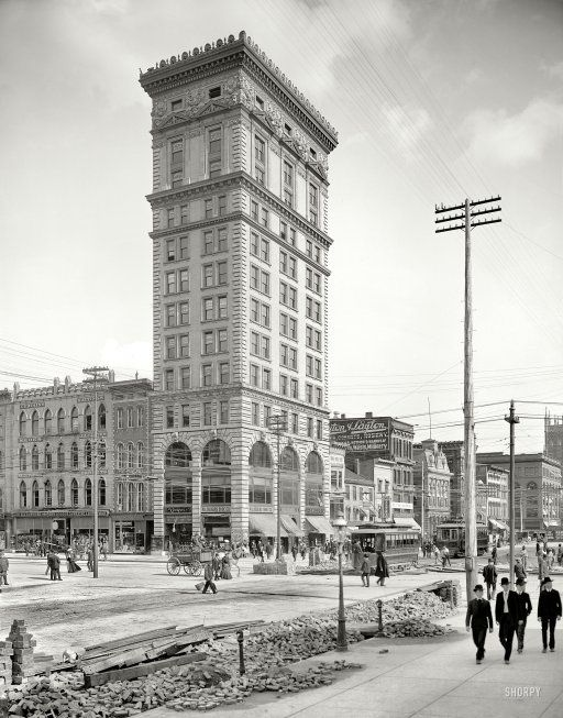 Dayton Ohio Circa 1904 Conover Building This 13 Story Structure Later Enlarged Still Stands At Third And Main 8x10 Gl Negative