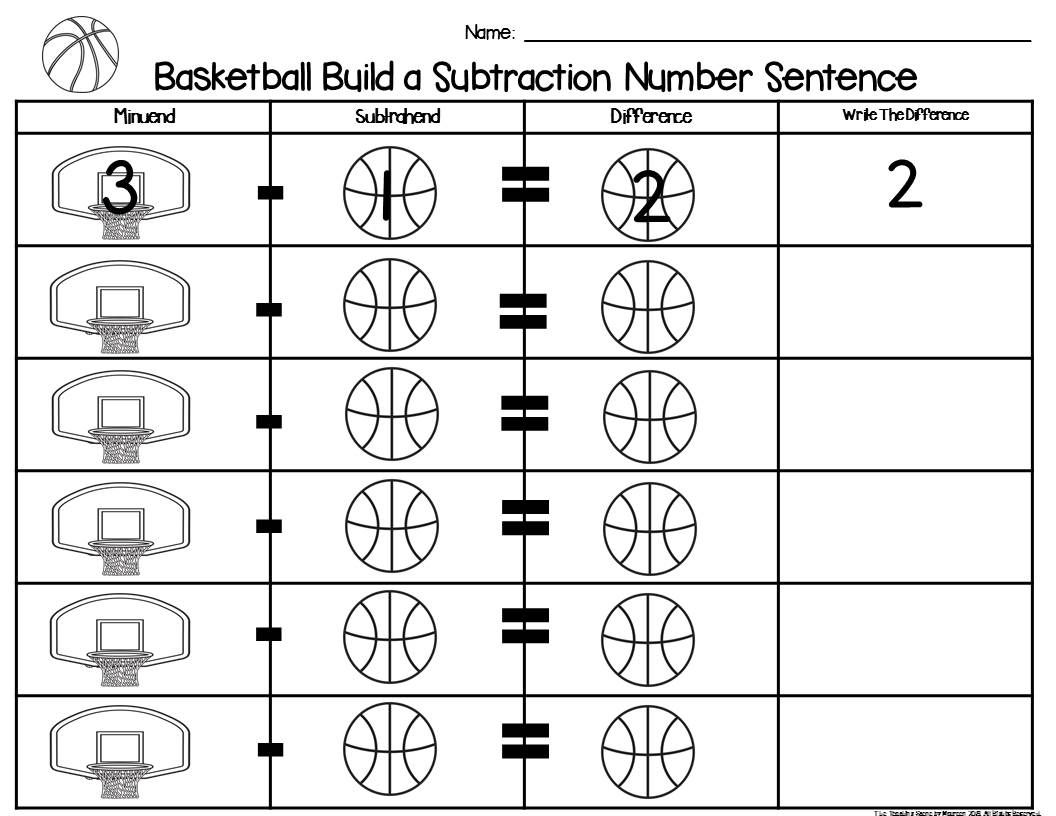 Basketball Build 2 Addend 0 20 Addition Amp Subtraction