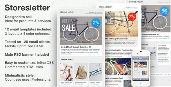 Storesletter Html EmailMarketing Template To Sell  Email Client