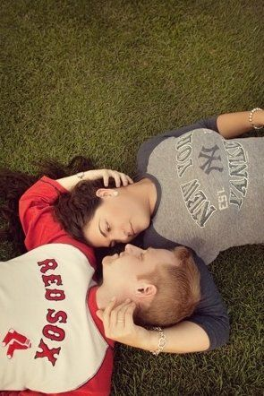 red sox & yankees engagement shoot.... Omg I so wish I would have thought of this for Lonnie and I... Though I am a much bigger baseball fan than Lonnie is :)