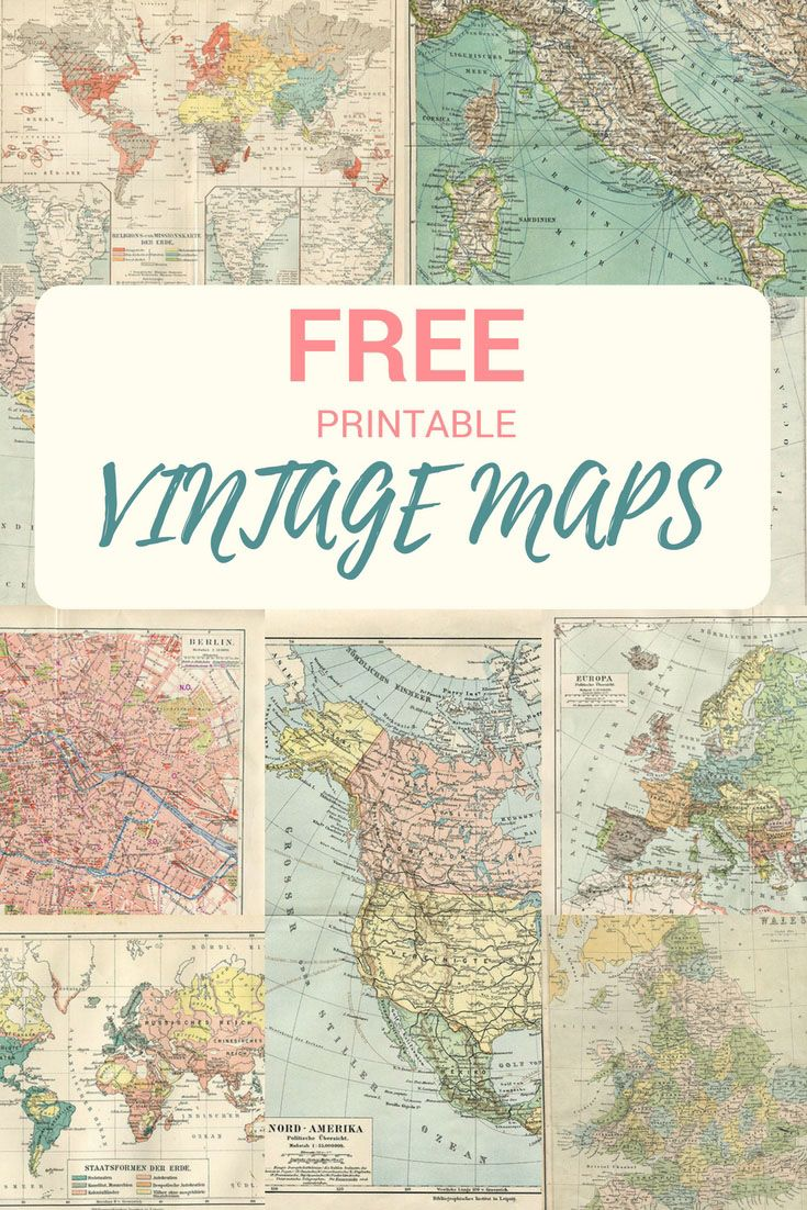 Wonderful free printable vintage maps to download mapas make a unique map mason jar bank for a wonderful gift pillar box blue gumiabroncs Images