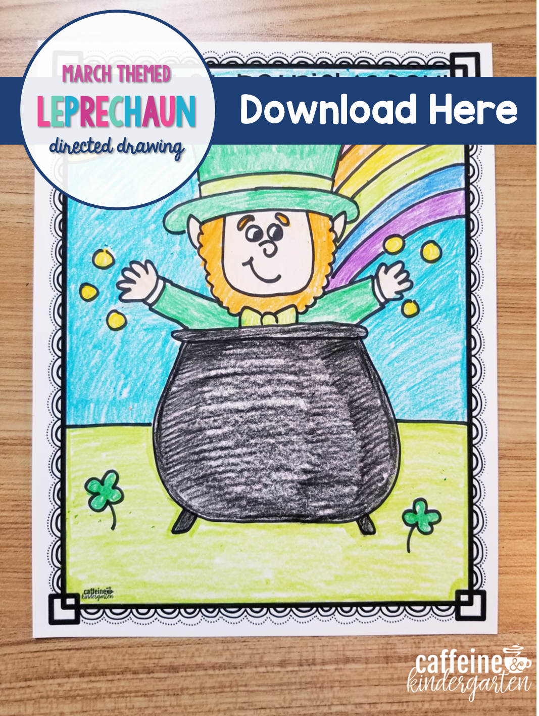 Leprechaun Directed Drawing For St Patrick S Day