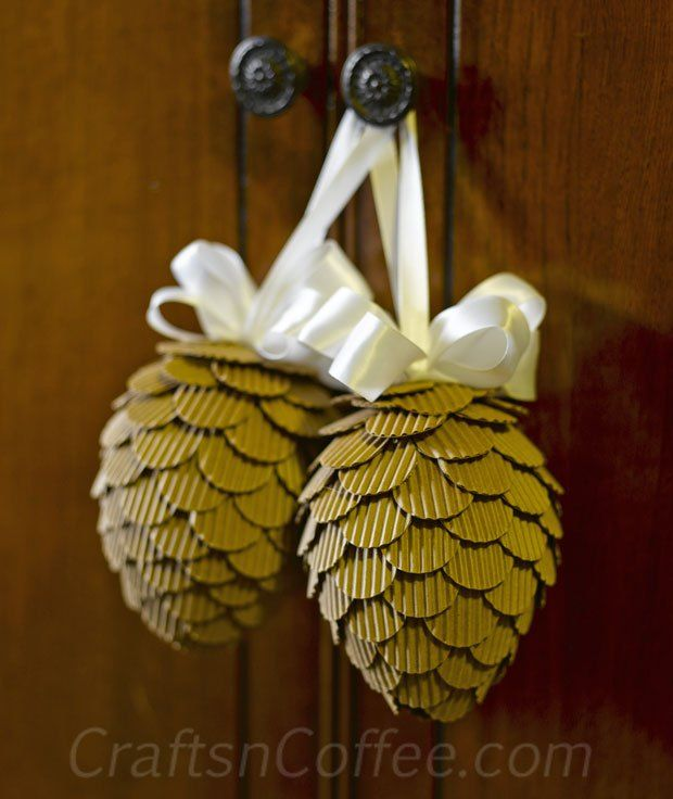 Beautifully made with corrugated cardboard tutorial on for Cardboard cones for crafts