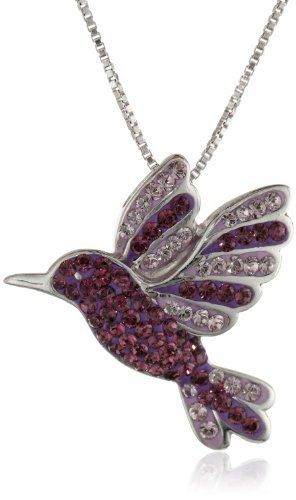 """Carnevale Sterling Silver Hummingbird with Swarovski Elements Pendant Necklace, 18"""", http://www.amazon.com/dp/B00CFI5K1E/ref=cm_sw_r_pi_awdm_YvLkub0540YAF"""