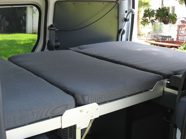Ford Transit Connect Kevin Hornby Designs Camper Bed Folded Out