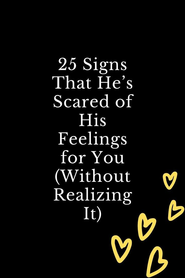 Scared feelings of his guy a when is 13 Signs