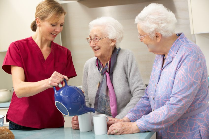 Caring arms caregivers are compassionate and caring