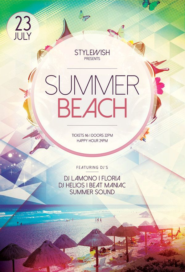 Summer Beach Flyer Design posters, Flyer design templates and - summer flyer template