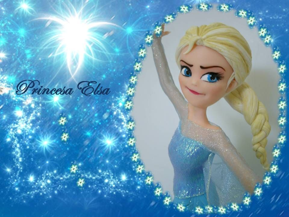 Princesa Elsa em Biscuit