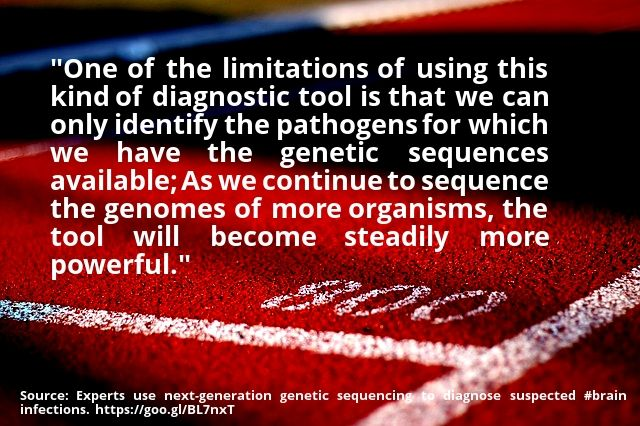 cool #quote Experts use next-generation genetic sequencing to diagnose suspected #brain infections