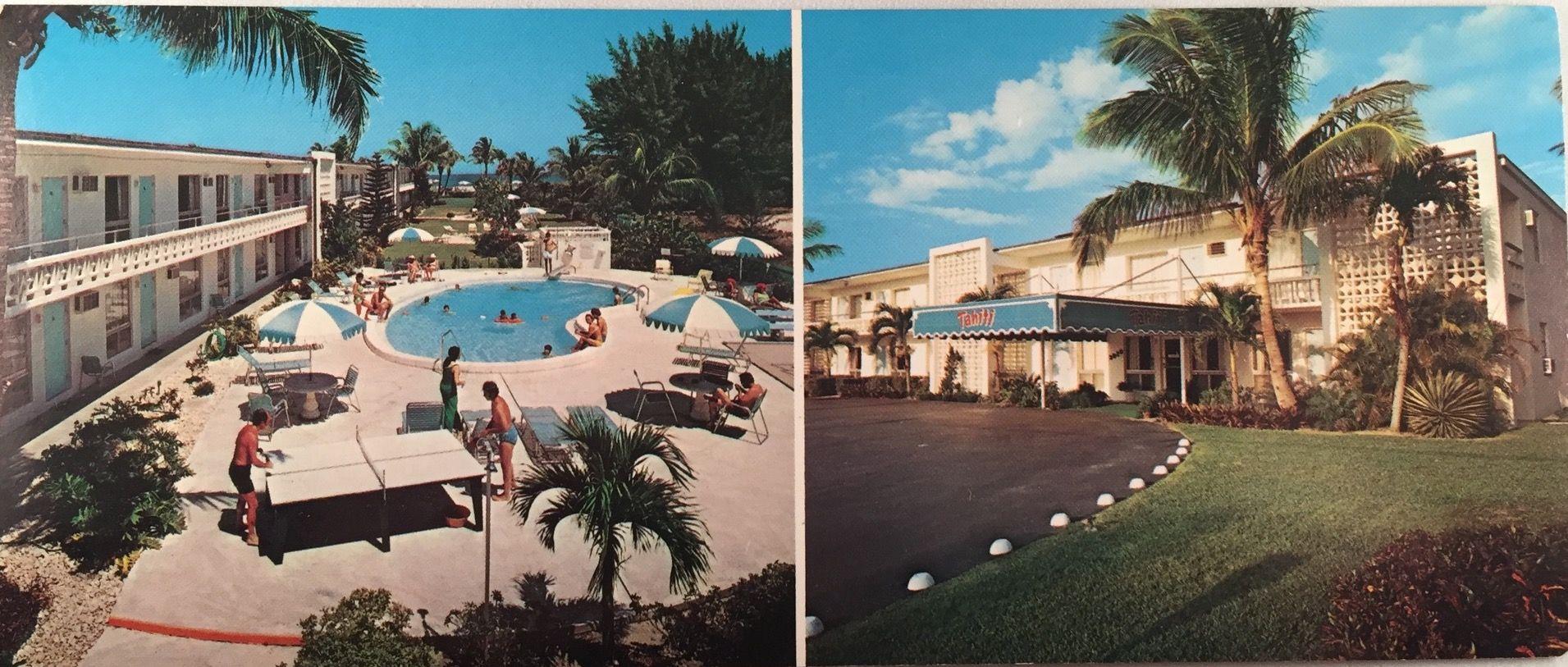 Vintage Postcard Tahiti On The Ocean Riviera Beach Fl