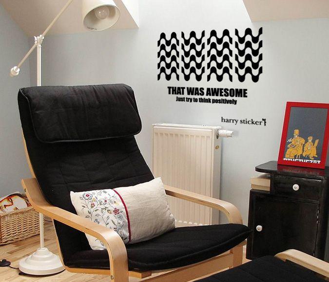 wallsticker waves Wallpaper interior Design