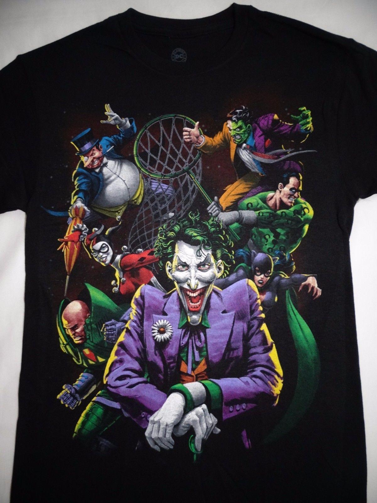 Batman Harley Quinn Face Twisted Smile DC Comics Licensed Adult T Shirt