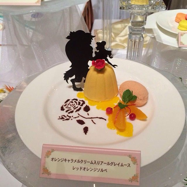 Lovely Beauty and the Beast dessert from Tokyo Disneyland PC