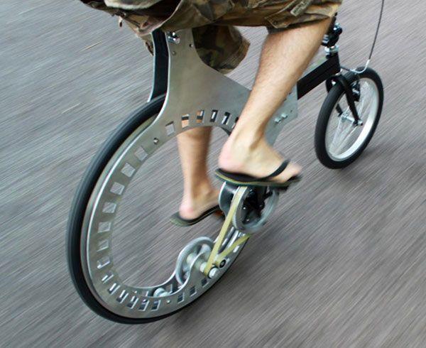 Belt Driven Hubless Rear Wheel Bicycle Bicycle Design Bike