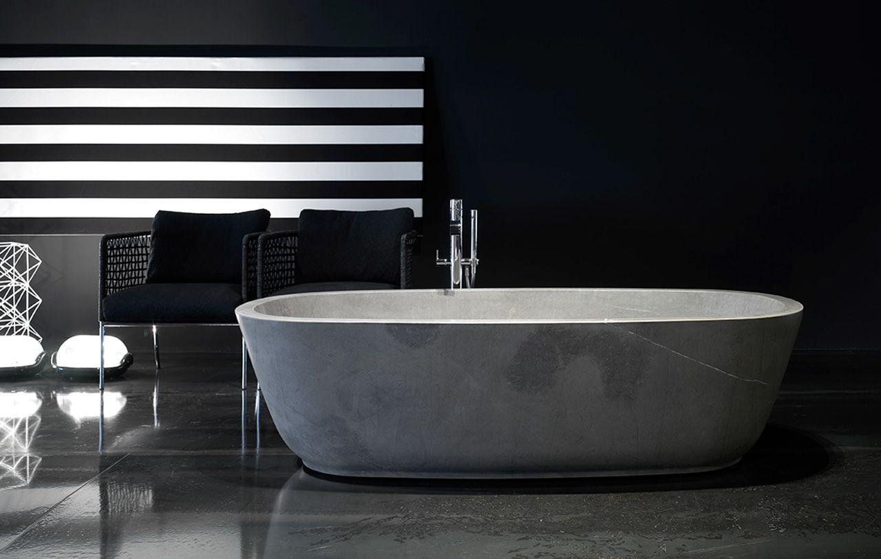 Vasca Da Bagno Ufo : Vasca da bagno ovale in pietra completa di piletta con sistema di