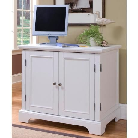 Naples White Compact Computer Desk Office Cabinet Heather Office Cabinets Computer Armoire Home Office Desks