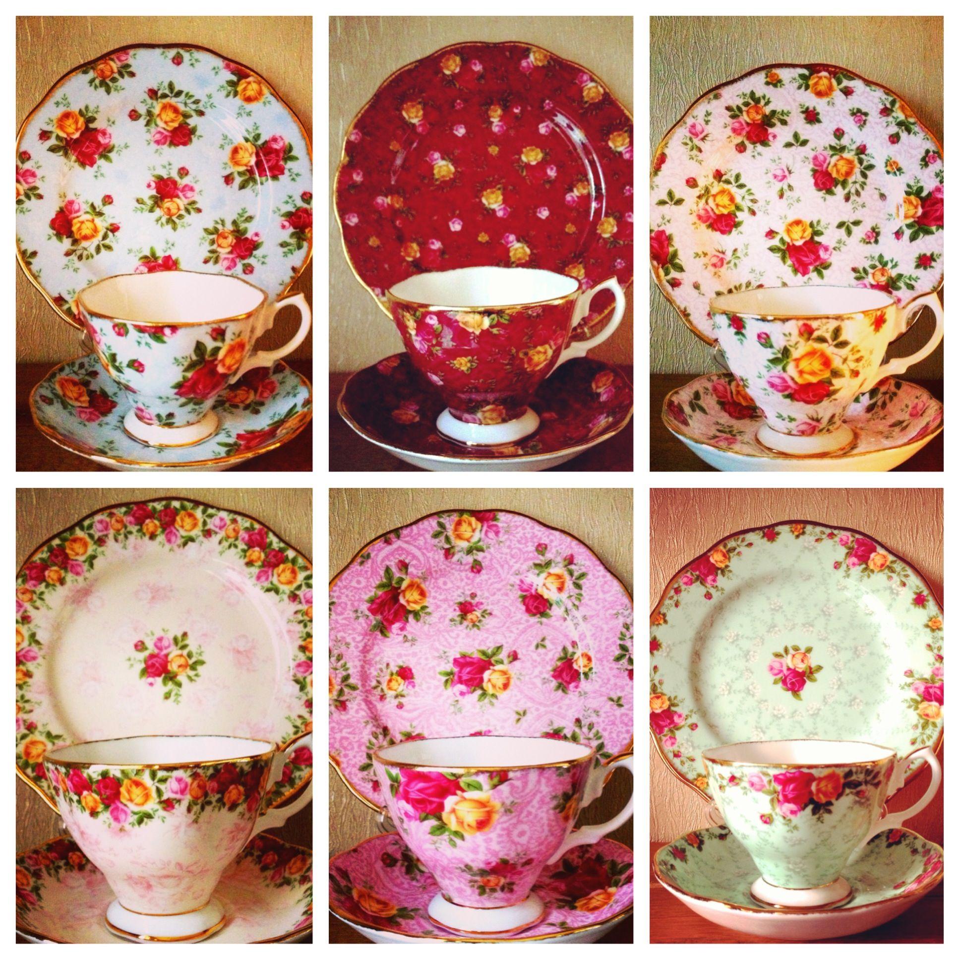 royal albert old country roses collectable teas vintage china porzellan und keramik. Black Bedroom Furniture Sets. Home Design Ideas