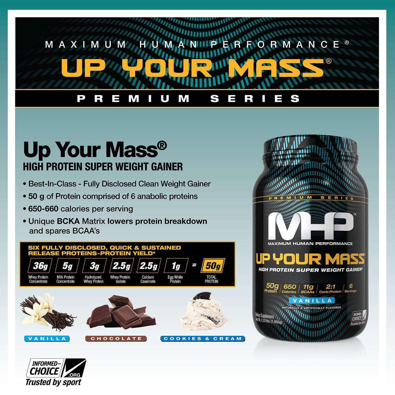 MHP Up Your Mass High Protein Super Weight Gainer Vanilla