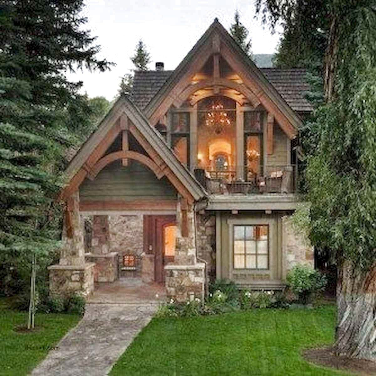 77 Favourite Log Cabin Homes Plans Design Ideas The Expert Beautiful Ideas Small Cottage House Plans Cottage House Exterior Small Cottage Homes