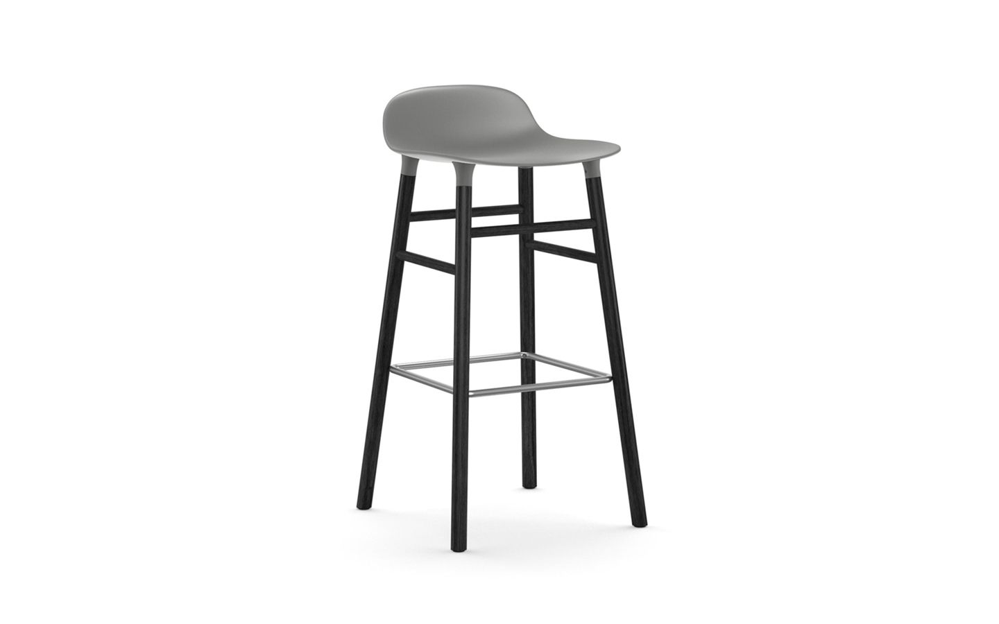 Cool Form Barstool Molded Plastic Shell Chair With Black Legs Lamtechconsult Wood Chair Design Ideas Lamtechconsultcom