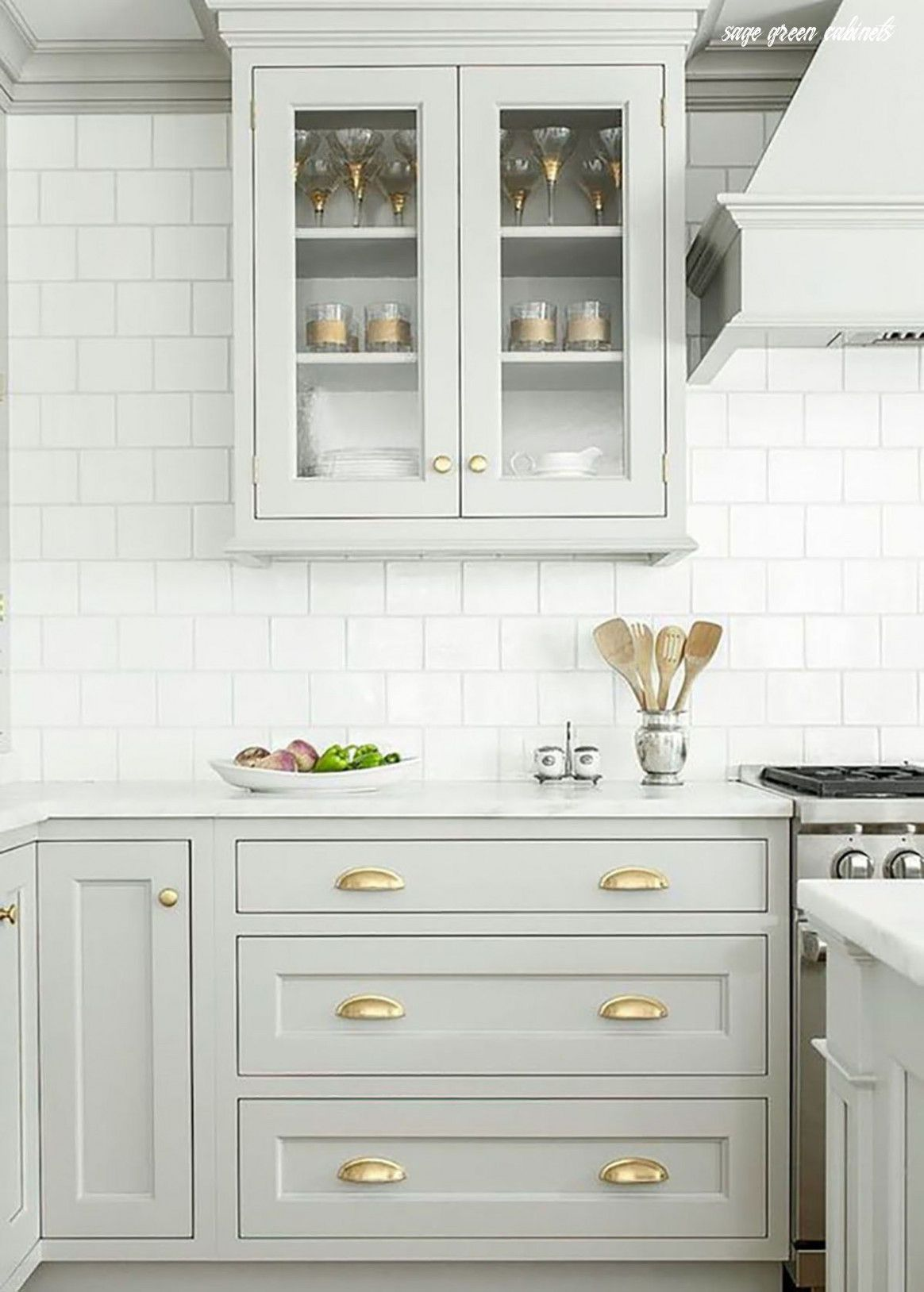 10 Important Life Lessons Sage Green Cabinets Taught Us -   19 sage green kitchen cabinets two tone ideas
