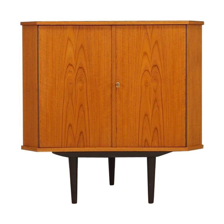 1stdibs Corner Cupboard Corner Cabinet Danish 1970s Scandinavian Retro Teak In 2020 Corner Cupboard Furniture Finishes Teak Storage