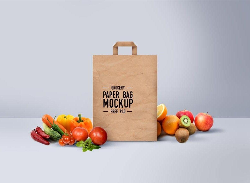 Download Grocery Paper Bag Mockup Bag Mockup Free Packaging Mockup Free Mockup