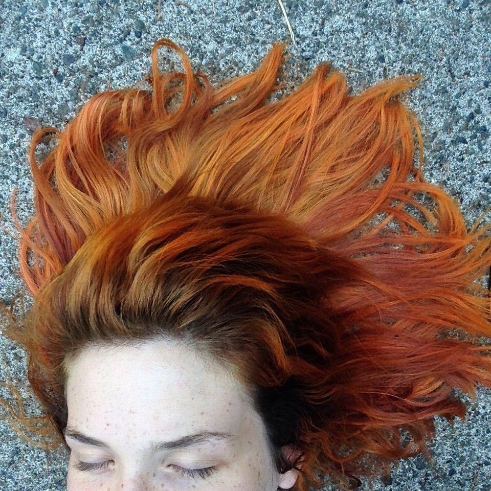 I Dyed My Whole Head With Koolaid And It Actually Worked Orange Hair Dye Kool Aid Hair Kool Aid Hair Dye