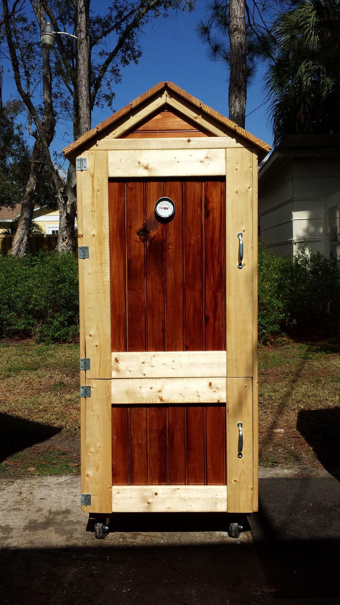 Small Smokehouse Build | Homemade smoker plans, Backyard ...