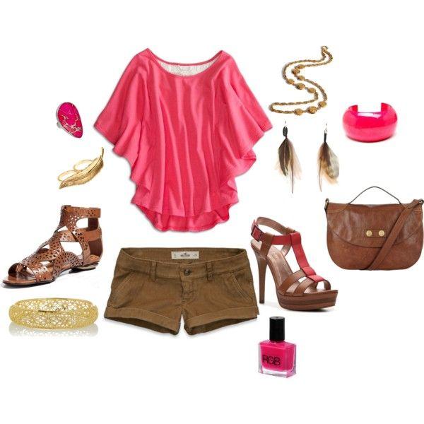 Pink Flutter Top with cute BCBG heels :)